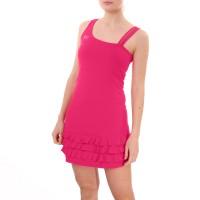 Платье с рюшами, розовый