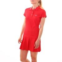 Платье-поло, красный